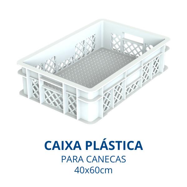 caixa plastica canecas