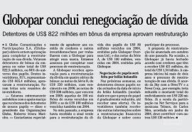 Debt renegotiation of Organizações Globo