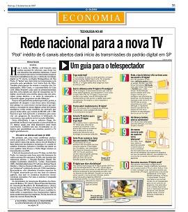 Start of digital transmissions in Brazil