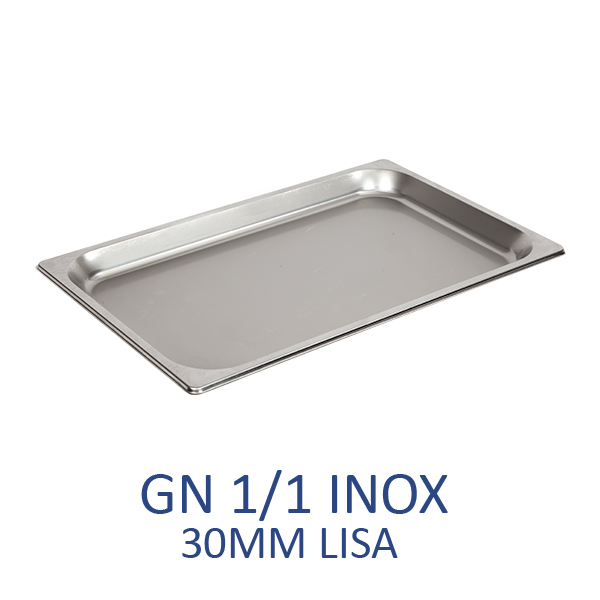 GN 1/1 inox 30mm lisa