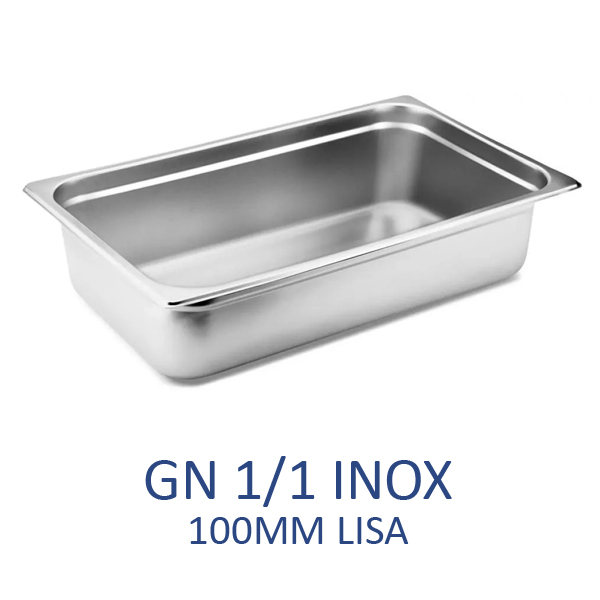 GN 1/1 inox 100mm lisa